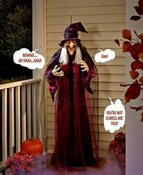 Knl Store 71 Life Size Hanging Animated Talking Witch Halloween Haunted House