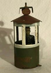 Early Tin Traffic Police Officer Stop And Go Toy Rare