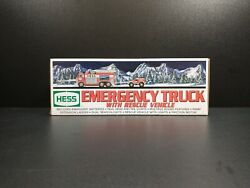 Hess 2005 Emergency Truck With Rescue Vehicle Mint In Box Never Used
