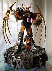 Soldier Story Unicron Led Table Lamp Statue Transformers Generation 1 W/ Hot Rod