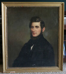Original Oil Painting 19th Century Oil Portrait Of A Young Man Baroque Antique