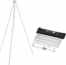 Camping Tripod Upgraded 4 Section Bracket Portable Lightweight Al Alloy Grill