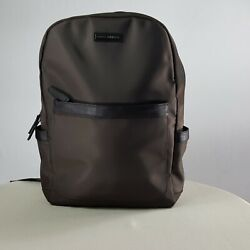 Archer Brighton Jake BackPack Brown with Leather Trim Laptop Travel $125.00