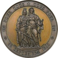 Medal Switzerland 1864 50th Anniversary Of Unification Ngc Ms64bn Bovy