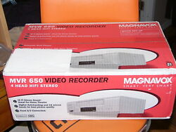 New Magnavox Mvr 650 Hi Fi 4 Head Stereo Video Cassette Recorder Vhs Player Vcr