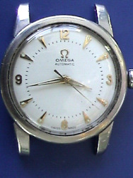 Vintage Omega Stainles Round 34.5mm Automatic Bumper Good Condition Wristwatch