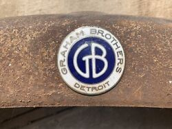 1920and039s Graham Brothers Truck Grill Shell Emblem License Bk 1927192819291930