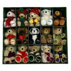 Harrods 15 Miniature Christmas Bears Year Bear Collection 1986-2000 6in