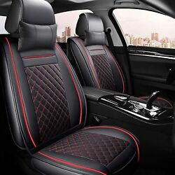 Car Seat Cover Cushions Pu Leather Front Rear Full Set Car Seat Covers