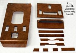 Mercedes W107 R107 Chestnut Wood Interior Set Genuine Oem Quality Veneer 560sl