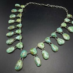 Lovely Federico Jimenez Sterling Silver Blue Green Turquoise Cleopatra Necklace