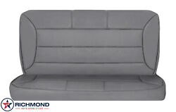 1996 Ford Bronco - Rear Bench Seat Complete Perforated Leather Seat Covers Gray