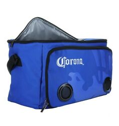 🍺 Corona Soft Cooler Bag With Built-in Bluetooth Speakers In Blue 🔊🔊nib