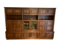 Living Room Wall Cabinet, Solid Wood, Vintage