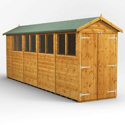 18ft X 4ft Apex Shed - Fully Tongue And Groove - Double Door - 18x4