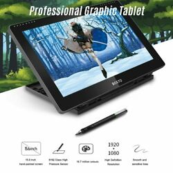 Portable Graphic Drawing Tablet 15.6 H-ips Lcd Display 8192 Pressure Level Pass