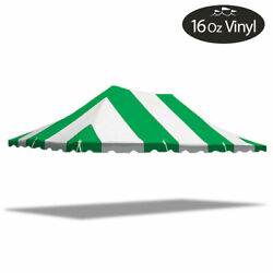 20x30 Premium Pole Tent Canopy Green-white Replacement Block-out 16 Oz Vinyl Top