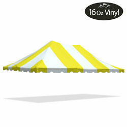 20x30 Premium Pole Tent Canopy Yellow-white Replacement Block-out 16oz Vinyl Top