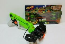 Nerf Zombie Strike Wrath Bolt Crossbow Blaster Bow And4 Arrows Toy Kids Foam Arrow