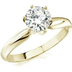 Vs1 D 0.70 Ct Natural Lab Grown Diamond Solitaire Wedding Ring 14k Yellow Gold