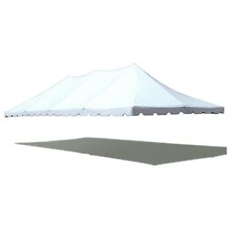 20x40and039 Premium Pole Tent Canopy White Replacement Block-out 16 Oz Vinyl Top