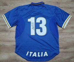 Italy 13 Authentic Player Issue Soccer Jersey Football Shirt 1996/1997 Rare