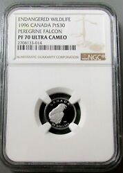 1999 Platinum Canada 30 Peregrine Falcon Ngc Proof 70 Ultra Cameo 1585 Minted