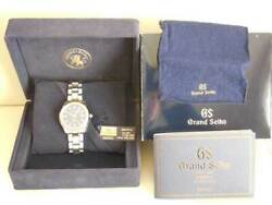 Authentic Grand Seiko Quartz Model Watch Navy Dial Stainless Steel Case