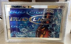 X-large Classic Bud Light Budweiser Beer Bottle Mirror Sign 48 X 31
