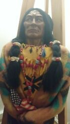 Very Rare 1930' Approx Native Indian Usa Skookum Doll Store Display 3ft Tall.