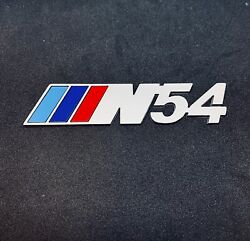 N54 Badge Real Metal Silver Matte Finish Tri Color