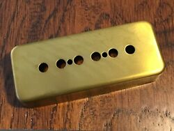1 Unplated / Unfinished Brass / Metal P90 Pickup Cover / 50mm Spacing / New