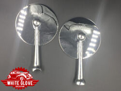 See-rite Notched Round Stem Art Deco Spare Tire Mount Mirrors