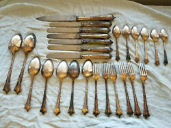 English Howell James And Co. Silver Plate Flatware Set Harrison Bros. And Howson