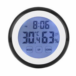 Electronic LED Digital Wall Clock Temperature Humidity Display Home Office Room