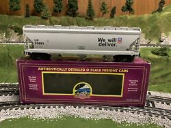 ✅mth Premier Union Pacific 3 Bay Centerflow Covered Hopper Car 20-97533 O Scale