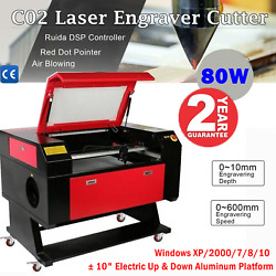 28andtimes20 80w Co2 Laser Engraver Cutter Engraving Machine Ruida Dsp Red Dot-pickup