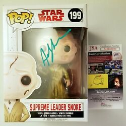 Andy Serkis And Mike Becker Authentic Hand-signed Star Wars Pop Vinyl Jsa Coa