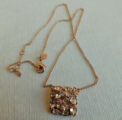 Awesome Vintage Alex Bittar Clear Cz And Gold Tone Necklace