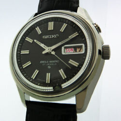Authentic Seiko Watch Bell-matic Alarm Black Dial Made In 1977 Automatic Winding