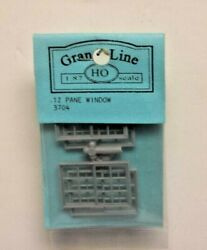 Grandt Line 3704 Double-hung Windows 12-pane - Scale 36 X 56 Pack Of 4 Ho Scale