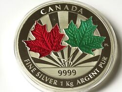 Maple Leaf Forever 1 Kg Kilo Silver Coin Proof 250 Canada 2014 Low Mintage