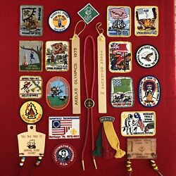 Boy Scout Webelos Cub Scout Historical Patches Pins Awards 1970 - 1977