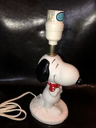 Vintage Snoopy Table Lamp From Peanuts 1958 1966 United Feature Syndicate 10.5