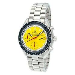 Omega Speedmaster Schumacher Limited Model Yellow Stainless Steel / Automatic