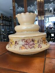 Extra Large Vintage Hurricane Lamp Replacement Shade, 9 1/2 Fitter, 12 Tall