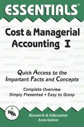 Cost And Managerial Accounting I Essentials Essentials Study Guides
