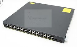 Used Cisco Ws-c2960xr-48td-i Catalyst Switch Dual P/s With Stack Module