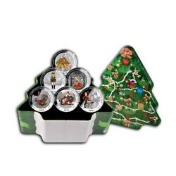 Liberia 2010 Merry Christmas And A Happy New Year 6x1/2oz Silver Proof Coin Set