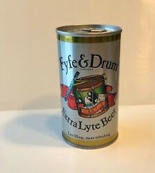 Fyfe And Drum 12 Oz Embossed Steel Pull Tab Beer Can Genesee Brewing Rochester Ny